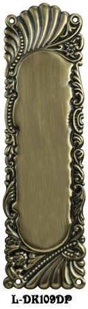 Victorian Recreated Roanoke Push Plate For Swinging Doors 10