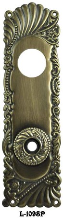 "Victorian Recreated Roanoke Entry Door Plate 10"" Tall (L-109SP)"