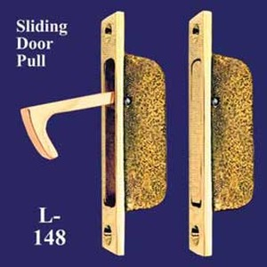 Brass Vintage Pocket Door Hidden Pull  (L-148)