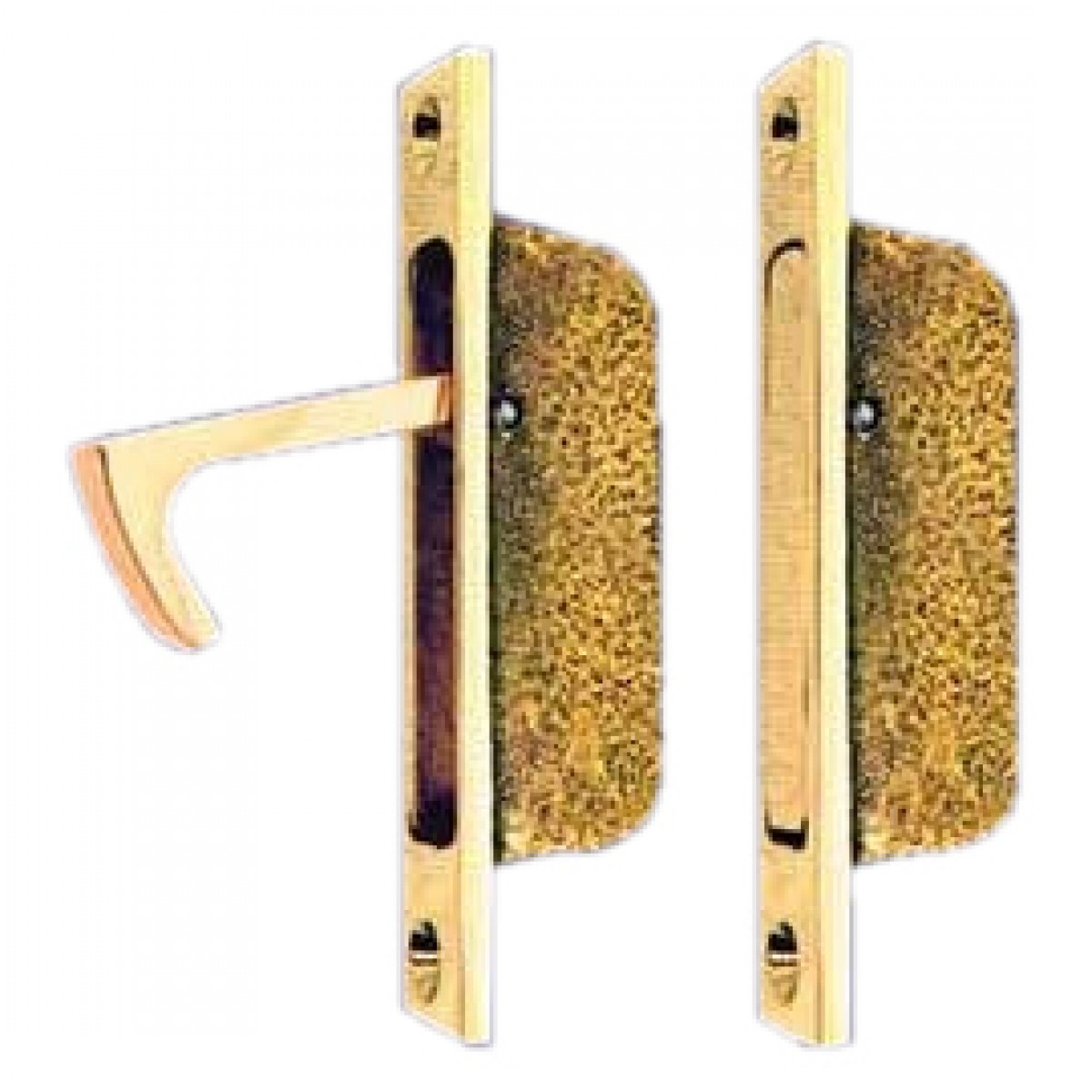 Picture of: Vintage Hardware Lighting Brass Vintage Pocket Door Hidden Pull L 148