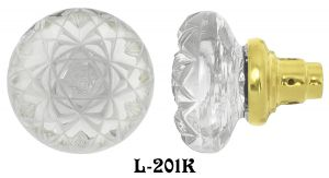 Fancy Cut Glass Doorknobs Circa 1900 (L-201K)