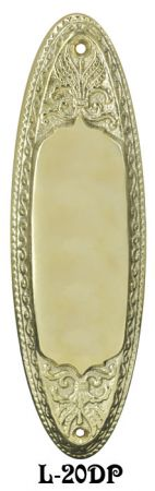 Victorian Style Cast Oval Pushplate (L-20DP)