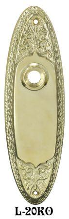 Vintage Style Oval Doorknob Receiver Door Plate (L 20KO)
