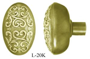 Victorian-Scroll-Design-Oval-Knobs---Pair-(L-20K)