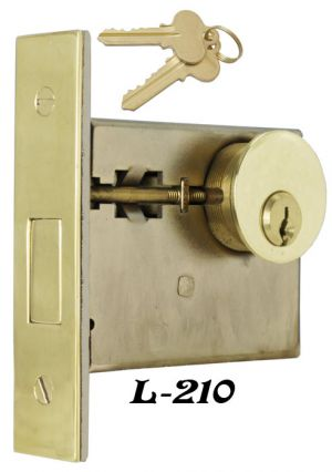 Recreated Deadbolt Lock Set - Choice Of Finish (L-210)