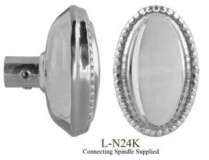 Oval-Beaded-Edge-Doorknobs-Set-(L-24K)