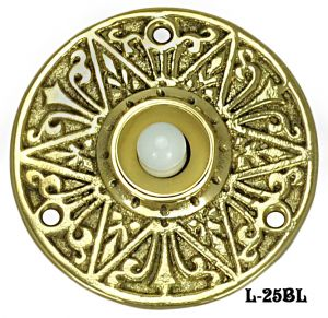 Antique Recreated Eastlake Round Doorbell (L-25BL)