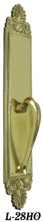 "Victorian Palladian Bead Handle Only Door Plate 20 1/2"" Tall (L-28HO)"