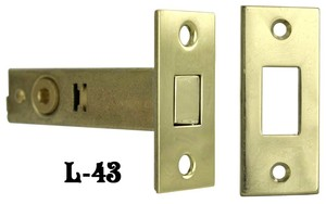 "Dead Bolt Privacy Tubular Door Latch 2 3/8"" Backset (L-43)"