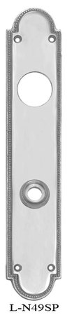 Narrow-Beaded-Edge-Cylinder-Receiver-Door-Plate-(L-49SP)