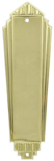 Vintage Hardware Amp Lighting Art Deco Door Push Plate L