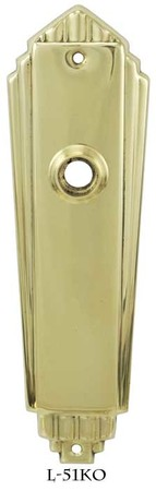 Art Deco Door plate No Keyhole (L-51KO)