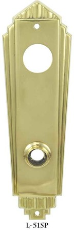 Art Deco Entry Door Plate (L-51SP)