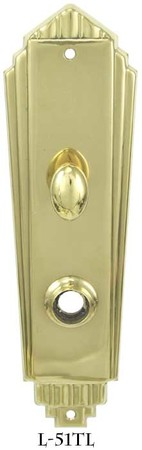 Art Deco Interior Entry Door Plate With Turn Latch (L-51TL)