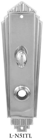 Art-Deco-Interior-Entry-Door-Plate-With-Turn-Latch-(L-51TL)