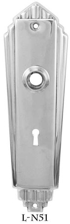 Art-Deco-Recreated-Door-Plate-With-Keyhole-2.25-inchcc-(L-51)