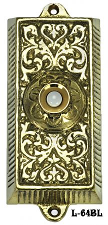Victorian Box Electric Pushbutton Doorbell (L-64BL)