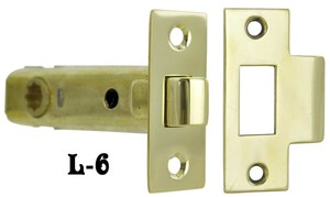 "Recreated Tubular Passage Latch 2 3/8"" Backset (L-6)"