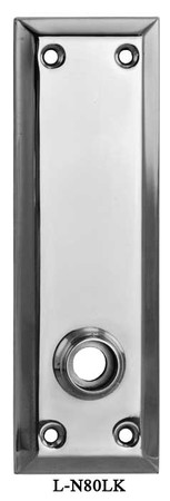Victorian-Style-7-inch-Tall-Plain-Door-Plate-with-Lower-Knob-Function-(L-80LK)