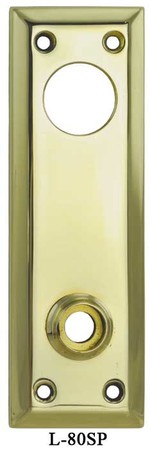 "Vintage Antique Style Classic 7"" Tall Plain Entry Door Plate - Choice Of Finish (L-80SP)"