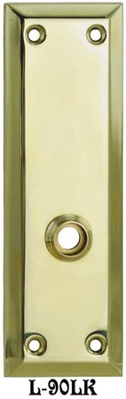 "Victorian Recreated 10"" Tall Plain Lower Knob Only Function Door Plate - Choice of Finish (L-90LK)"