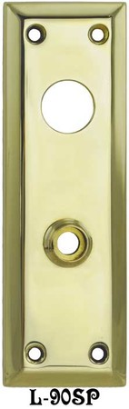 "Victorian Reproduction Large 10"" Tall Plain Brass Entry Door Plate (L-90SP)"