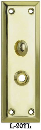 "Recreated Victorian 10"" Tall Plain Turnlatch & Knob Door Plate - Choice Of Finish (L-90TL)"