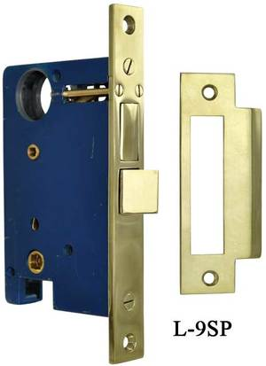 Mortise Lock for Entry Doors with Double Lift Thumblatch Function, 2 1/2