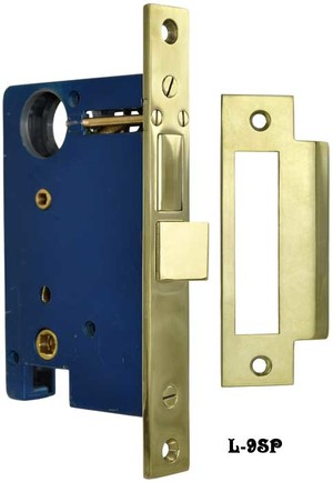 "Entry Door Mortise Lock for Doorknob Exterior & Doorknob Interior Function with 2 1/2"" Backset (L-9SP)"