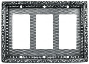 Victorian-Decorative-Triple-Gang-GFI-Outlet-or-Rocker-Light-Switch-Plate-Cover-(L-W19)