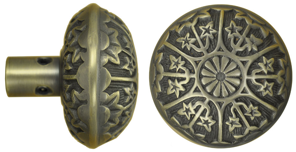 Victorian Antique Recreated Eastlake Style Brass Doorknobs