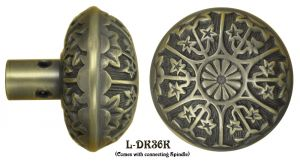 Victorian Antique Recreated Eastlake Style Brass Doorknobs Set (L-36K)