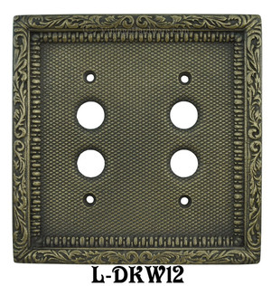Victorian-Decorative-Double-Push-Button-Switch-Plate-Cover-(L-W12)