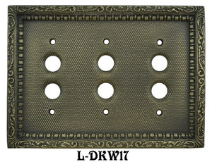 Victorian-Decorative-Triple-Push-Button-Switchplate-Cover-(L-W17)