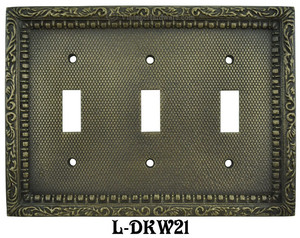 Victorian-Decorative-Triple-Light-Switch-Plate-Cover-(L-W21)