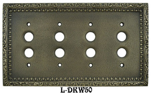 Victorian-Decorative-4-Gang-Push-Button-Switchplate-(L-W50)