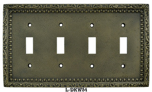 Victorian-Decorative-Quad-Light-Switch-Plate-(L-W54)
