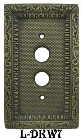 Victorian-Single-Gang-Decorative-Push-Button-Switch-Plate-Cover-(L-W7)