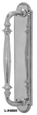 Narrow-Beaded-Edge-Door-Pull-Handle-Door-Plate-(L-49HO)