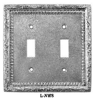 Victorian-Decorative-Double-Toggle-Light-Switch-Plate-Cover-(L-W8)