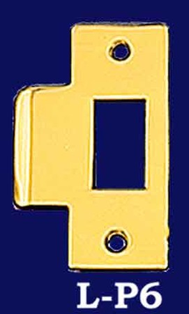 Replacement Strike Plate for Door Latch Brass or Nickel (L-P6)