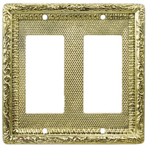 Victorian Decorative Double GFI or Rocker Switch Plate Cover (L-W14)