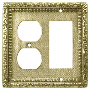 Victorian Decorative Plug And GFI Switch Cover Plate (L-W22)