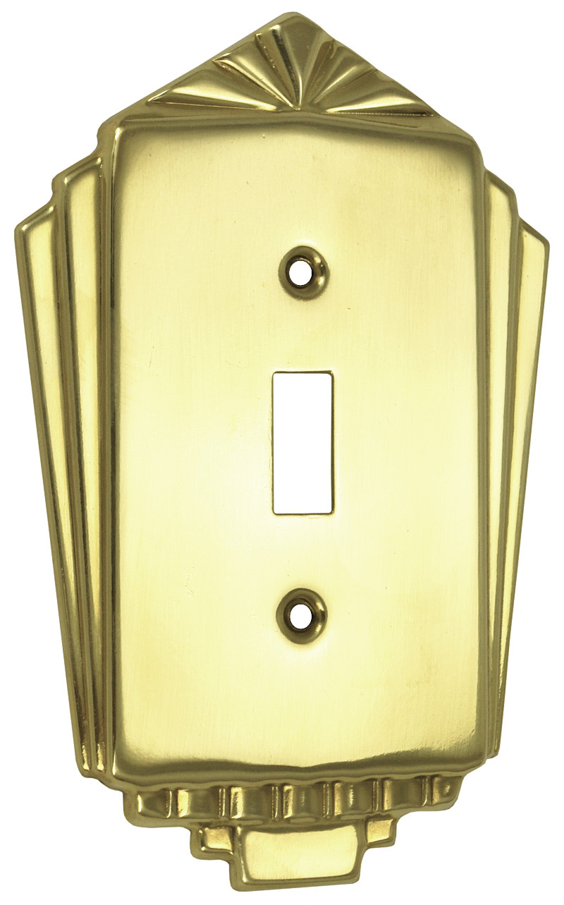 Vintage hardware lighting - Art deco switch plate covers ...