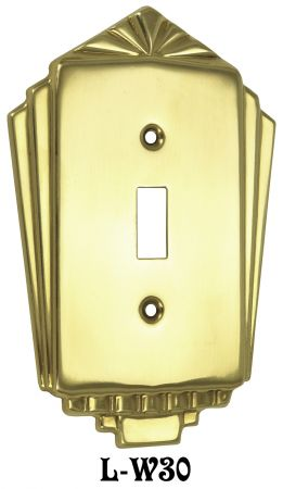 Art Deco Single Switch Cover Plate (L-W30)
