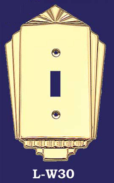 Vintage Hardware Lighting Art Deco Single Switch Cover