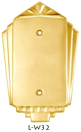 Art Deco Single Blank Switch Plate Cover (L-W32)