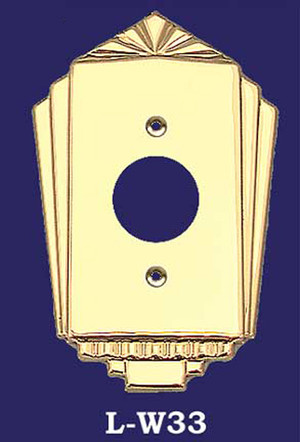 Art Deco Recreated Large Plug Cover Plate (L-W33)