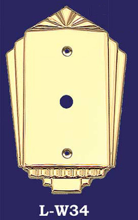 Art Deco Style Dimmer or Cable Cover Plate (L-W34)
