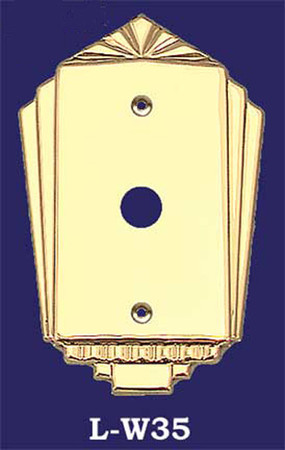 Art Deco Style Single Push Button Switch Plate Cover (L-W35)